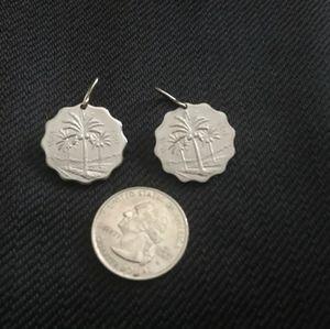 Iraqi Palm Coin Earring Set
